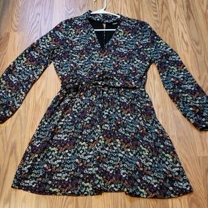 Pretty Floral Dress, Divided, sz 14